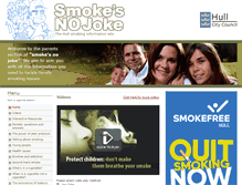Tablet Preview of parents.smokesnojoke.org.uk
